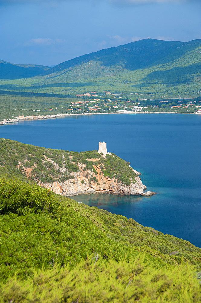 Torre del Buru, Capo Caccia, Baia di Porto Conte, Alghero, Sardinia, Italy,