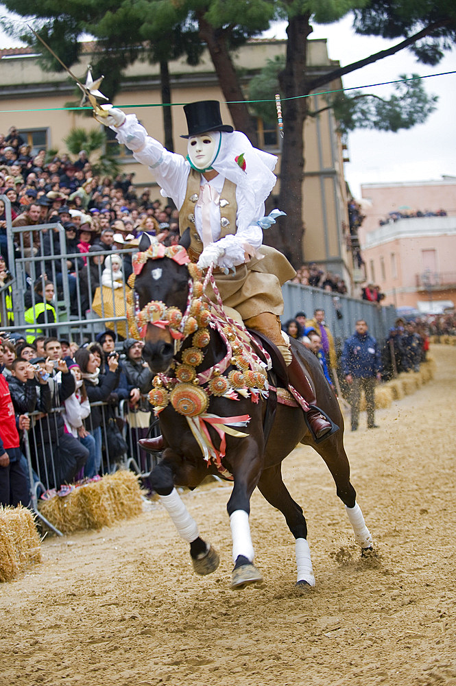 Su Componidori, The Sartiglia is a race to the star that takes place on the last Sunday and Tuesday of Carnival in Oristano, Sardinia, Italy, Europe