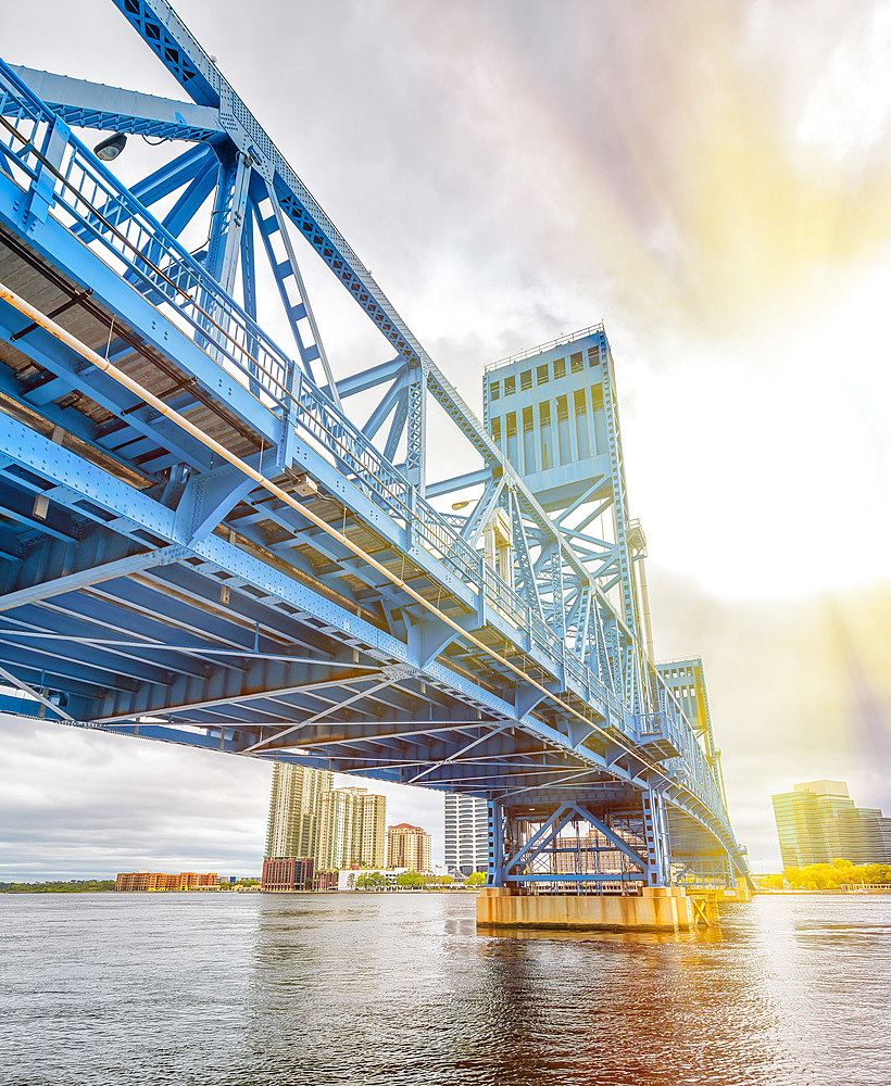 John T. Alsop Jr. Bridge in Jacksonville, FL. It is a bridge crossing the St. Johns River .