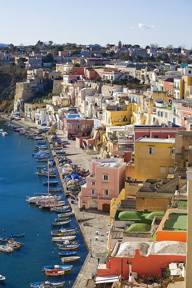 La Corricella, Procida island, Campania, Italy, Europe