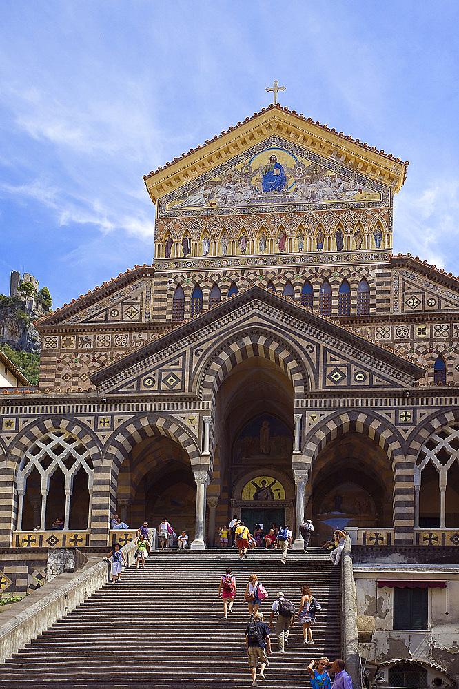 Amalfi Dome, Amalfi coast, Salerno, Campania, Italy, Europe