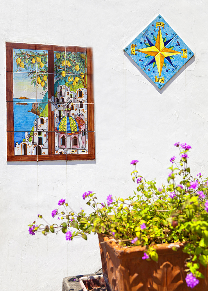 Traditional majolic, Positano, Amalfi coast, salerno, Italy, europe.