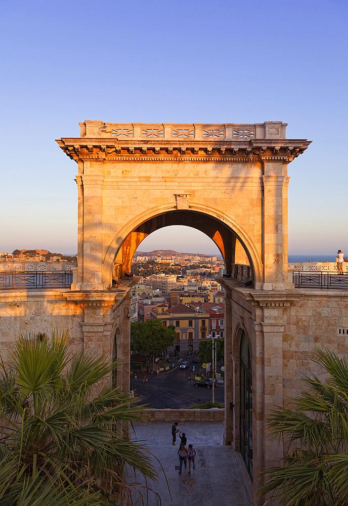 Bastione St.remy, Cagliari, Sardinia, Italy, Europe.