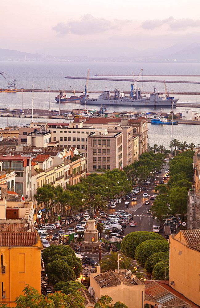City skyline, Cagliari, Sardinia, Italy, Europe.
