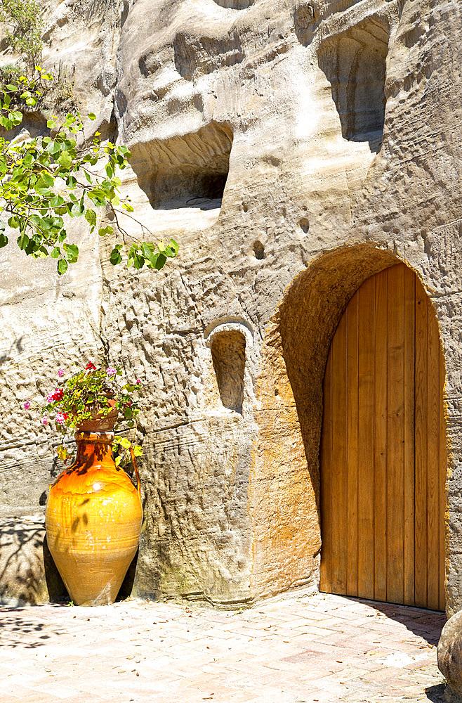 Serrara Fontana, home dug it tuff, Ischia island, Campania, Italy, Europe