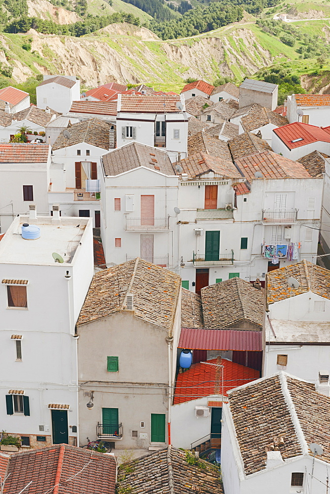 "View of old village of Pisticci, neighborhood ""Dirupo"". Pisticci, Basilicata, Italy"