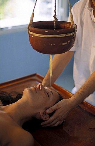 Ayurvedico massage, Pigna ancient thermal bath, Ligury, Italy
