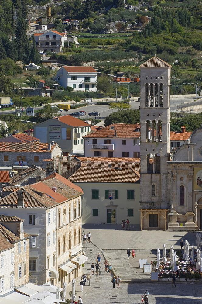 St. Stephens Cathedral, Medieval city of Hvar, island of Hvar, Dalmatia, Croatia, Europe