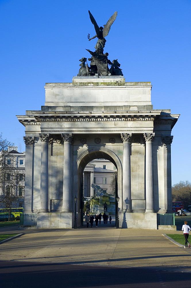 Wellington Arch, Hyde Park Corner, London, England, United Kingdom, Europe