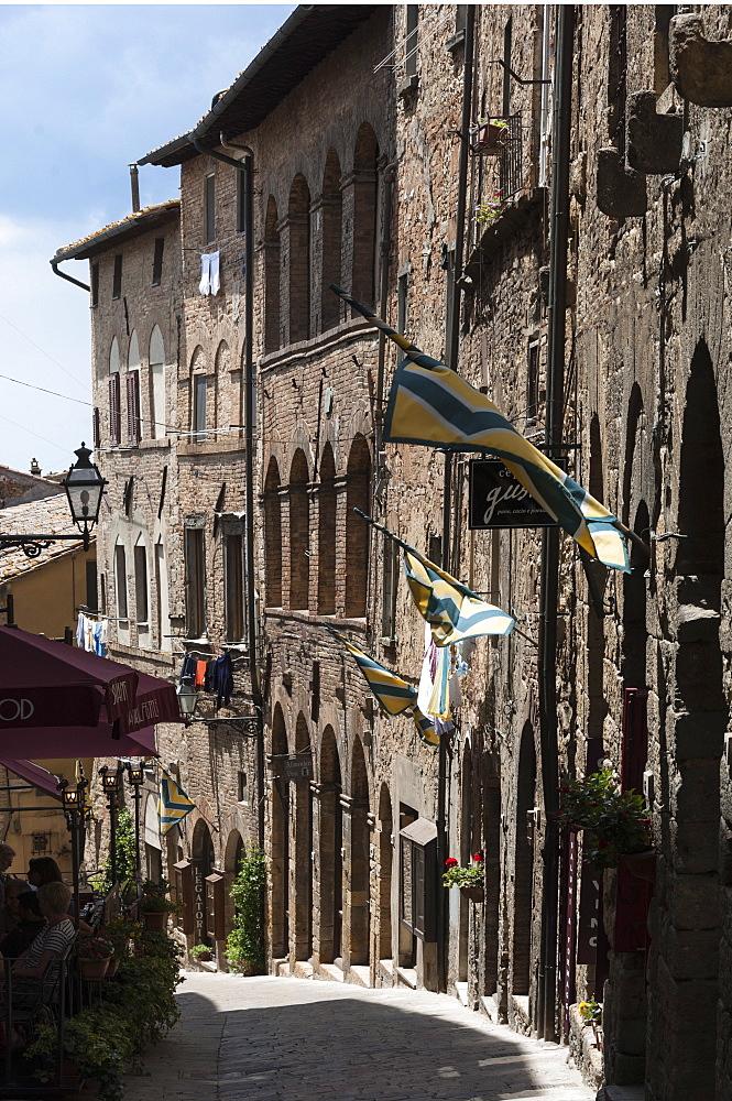 Street in Volterra, Tuscany, Italy, Europe