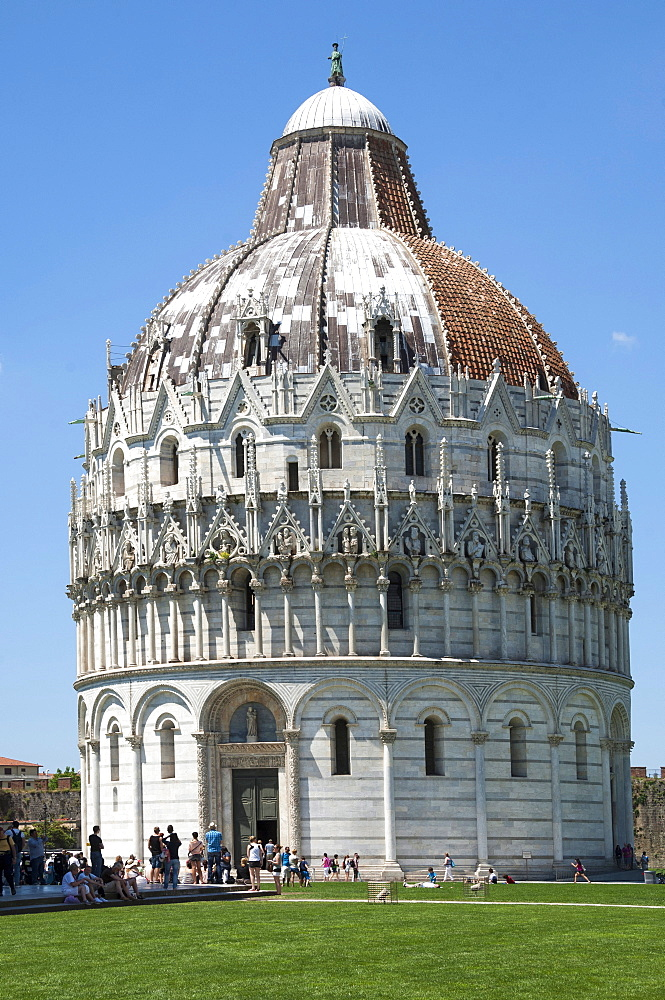 The Baptistry, UNESCO World Heritage Site, Pisa, Tuscany, Italy, Europe