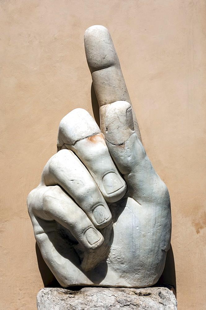 Hand of Emperor Constantine I, 4th century AD, Capitoline Museum, Rome, Lazio, Italy, Europe
