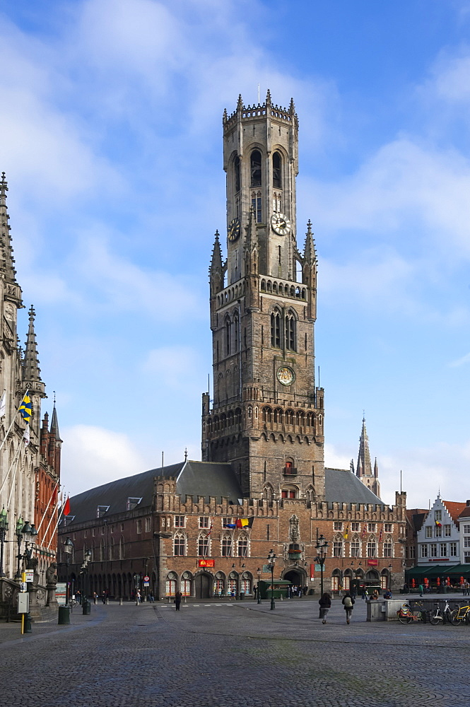 Belfry, Market Place, Bruges, UNESCO World Heritage Site, Belgium, Europe