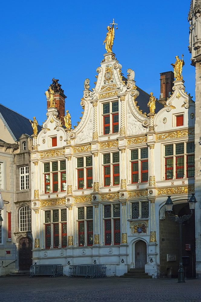 Part of the Town Hall, Bruges, UNESCO World Heritage Site, Belgium, Europe
