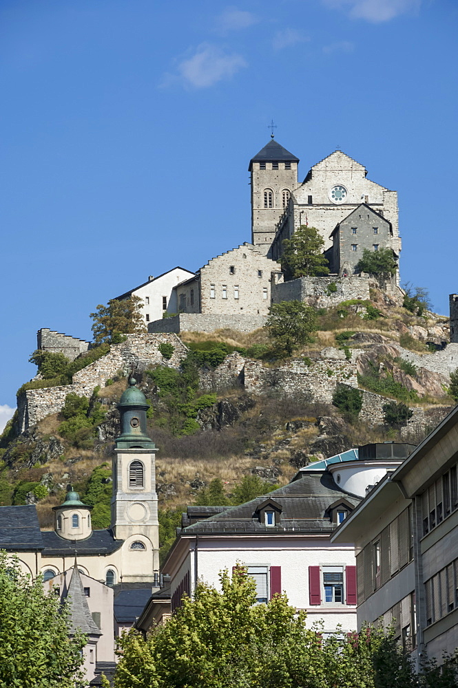 Medieval Castle at Sion, Switzerland, Europe - 747-1804
