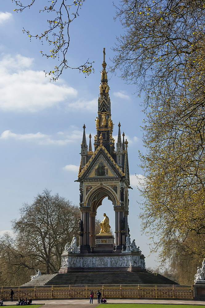 Albert Memorial, Kensington Gardens, London, England, United Kingdom, Europe - 747-1868