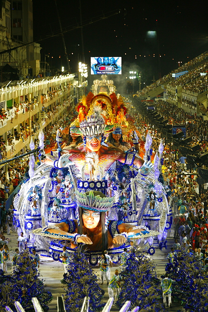Carnival parade at the Sambodrome, Rio de Janeiro, Brazil, South America  - 749-1068