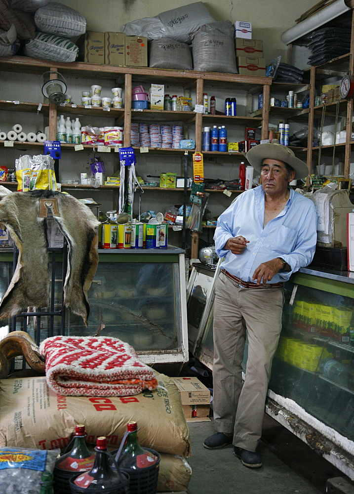 Man at a local grocery shop in Cafayate, Salta Province, Argentina, South America