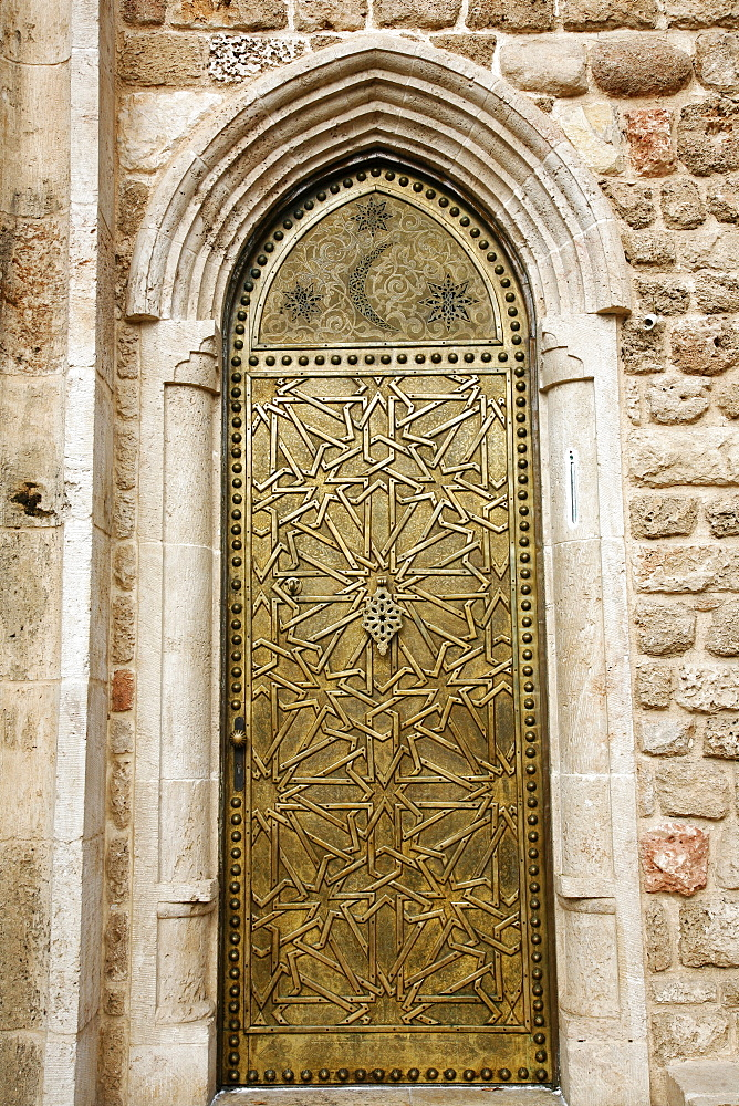 Door detail at Old Jaffa, Tel Aviv, Israel, Middle East