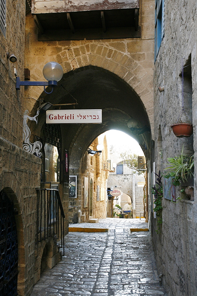 Alleys in the Old Jaffa, Tel Aviv, Israel, Middle East