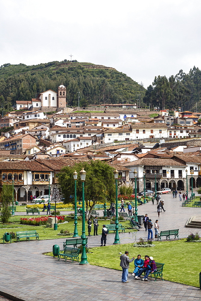 Plaza de Armas, Cuzco, UNESCO World Heritage Site, Peru, South America