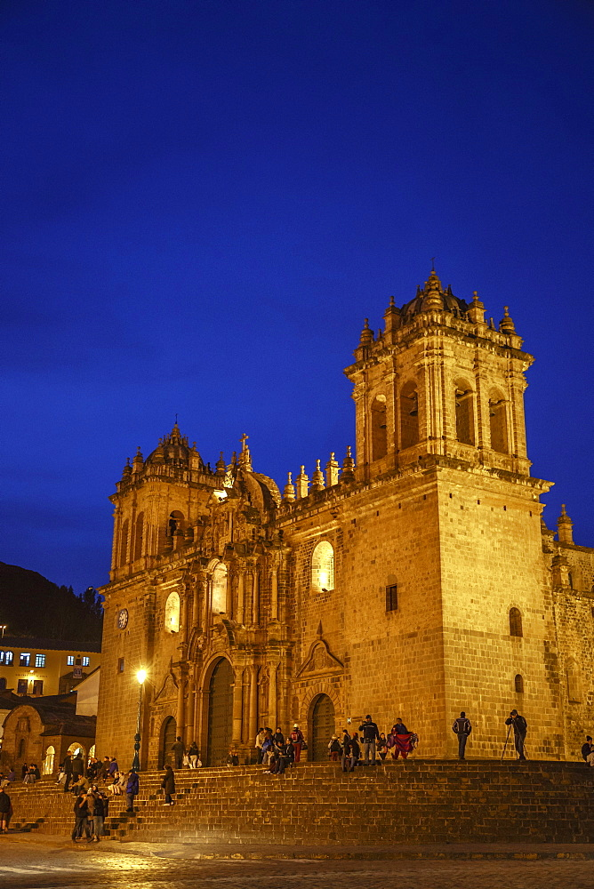 The Cathedral in Plaza de Armas, Cuzco, UNESCO World Heritage Site, Peru, South America