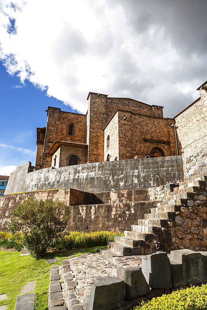 View over the Qorikancha and Santo Domingo church, Cuzco, UNESCO World Heritage Site, Peru, South America
