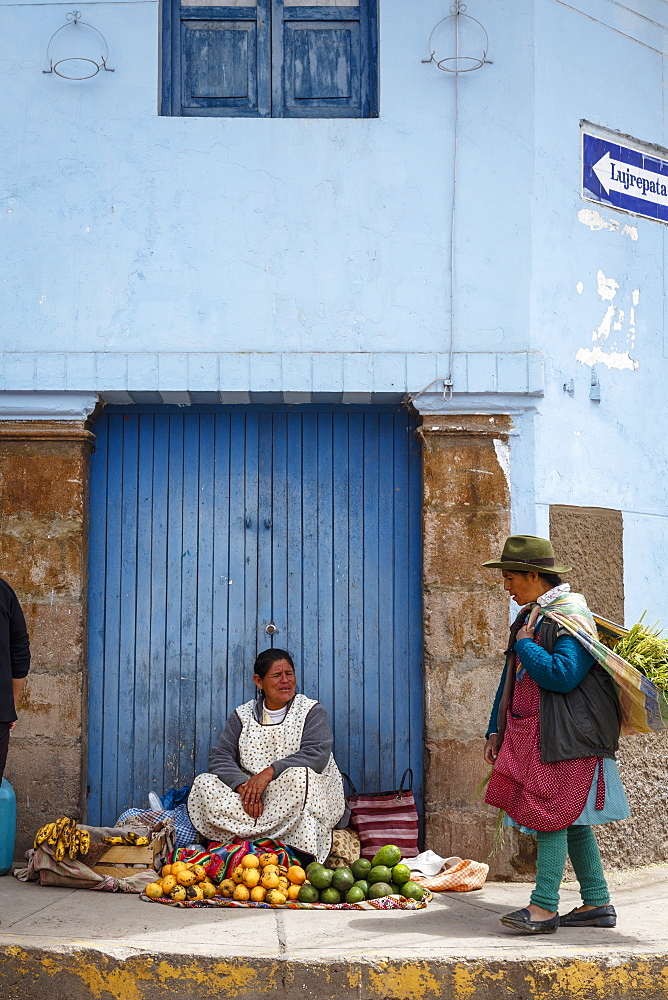 Street scene in Cuzco, Peru, South America