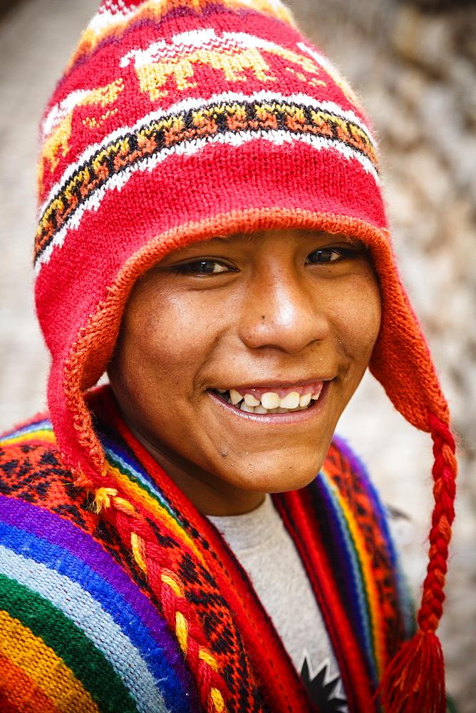 Quechua boy, Cuzco, Peru, South America