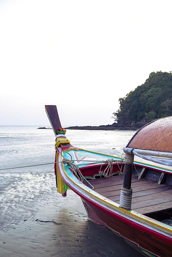 Longtail boat on Ko (Koh) Lanta, Thailand, Southeast Asia, Asia