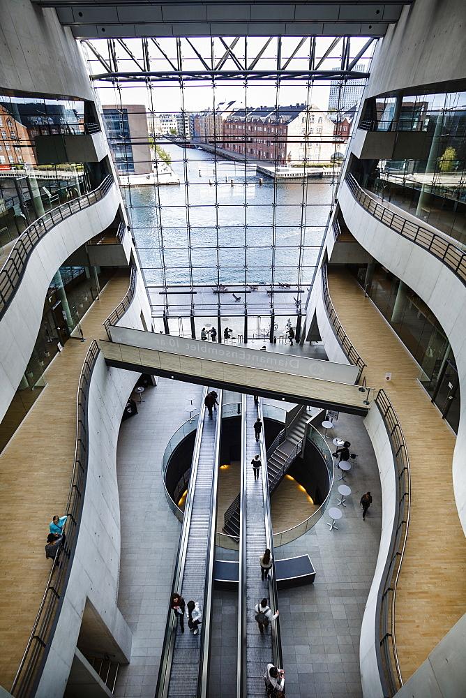 The interior of the Black Diamond building, house of the Royal Library, Copenhagen, Denmark, Scandinavia, Europe