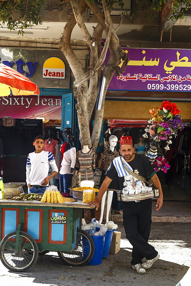 Traditional water seller in Bethlehem, West Bank, Palestine territories, Israel, Middle East - 749-2211