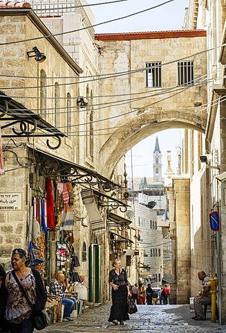 Street scene in Old City, UNESCO World Heritage Site, Jerusalem, Israel, Middle East