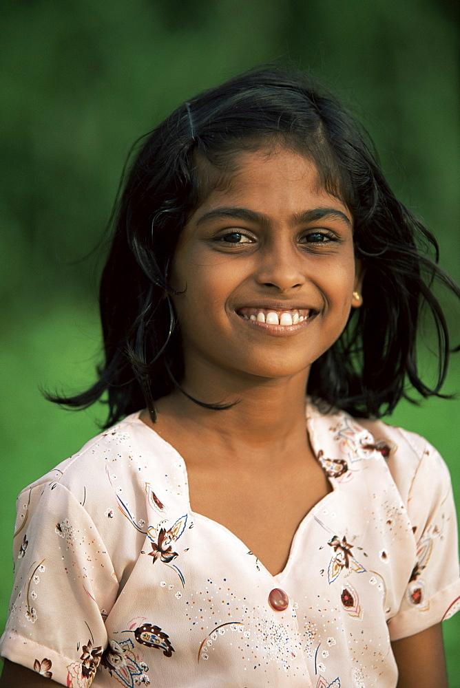 Portrait of a young girl, Sri Lanka, Asia