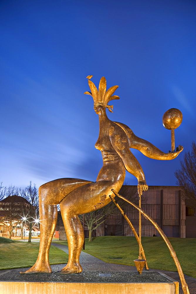 Sculpture outside Te Manawa, the Science Centre and Manawatu Museum, Palmerston North, Manawatu, North Island, New Zealand, Pacific