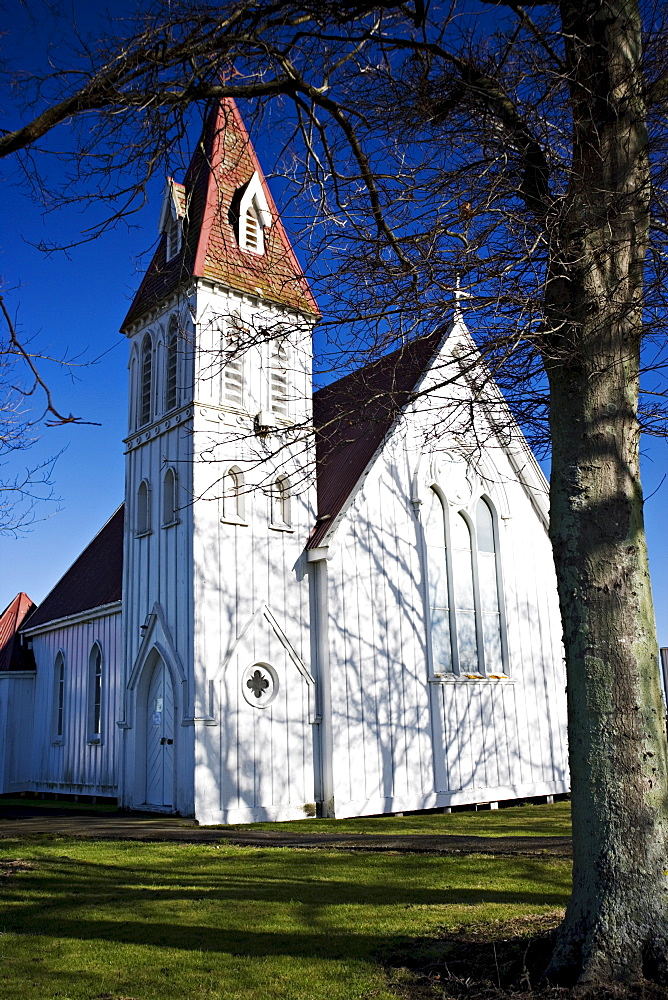 Traditional wooden church, Sanson, Manawatu, North Island, New Zealand, Pacific