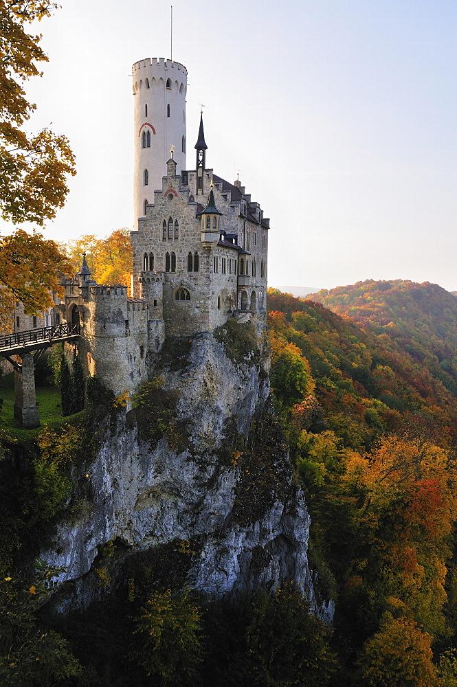 Castle Liechtenstein, Schwaebische Alb, Baden-Wurttemberg, Germany, Europe