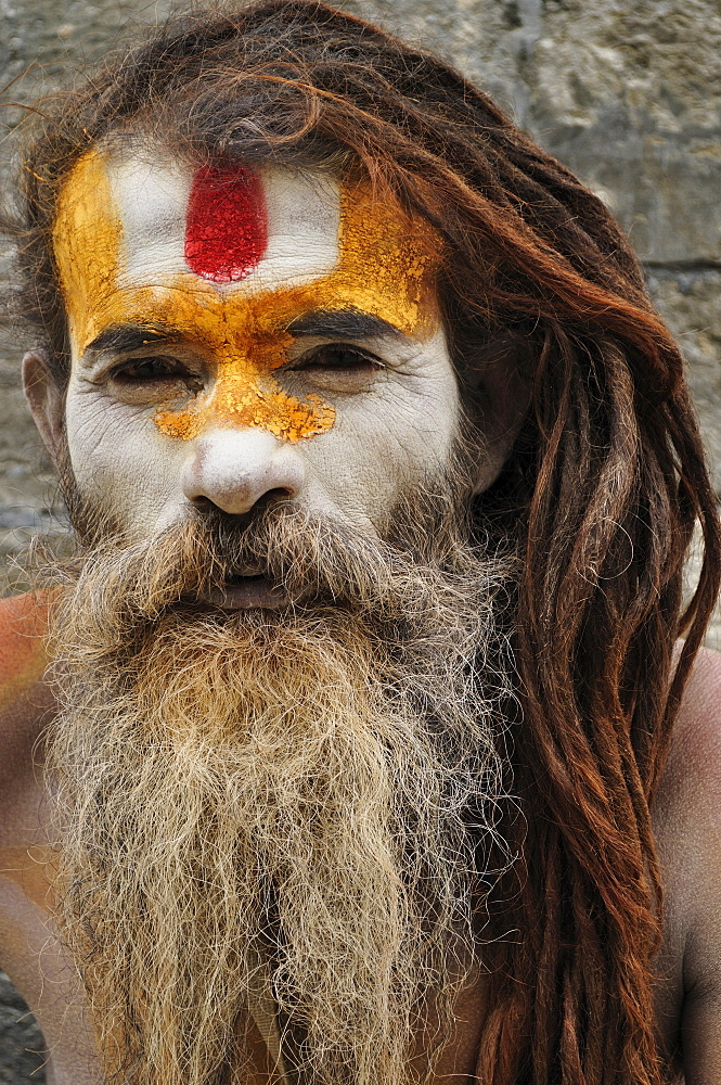 Portrait of Sadhu, Pashupatinath temple, UNESCO World Heritage Site, Kathmandu, Nepal, Asia - 756-1740