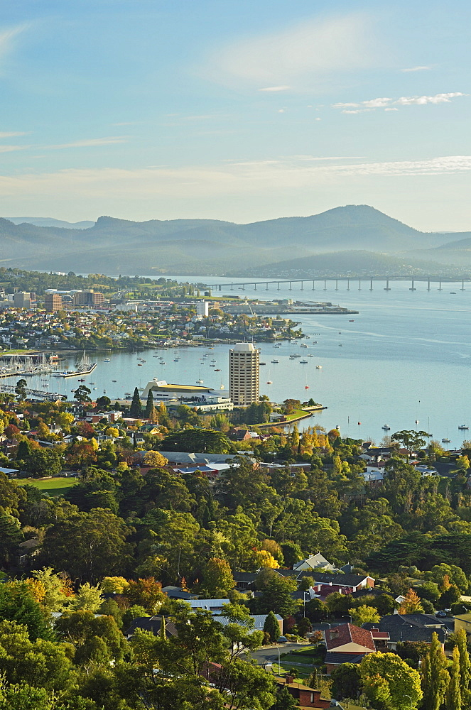 Hobart and the River Derwent, Tasmania, Australia, Pacific