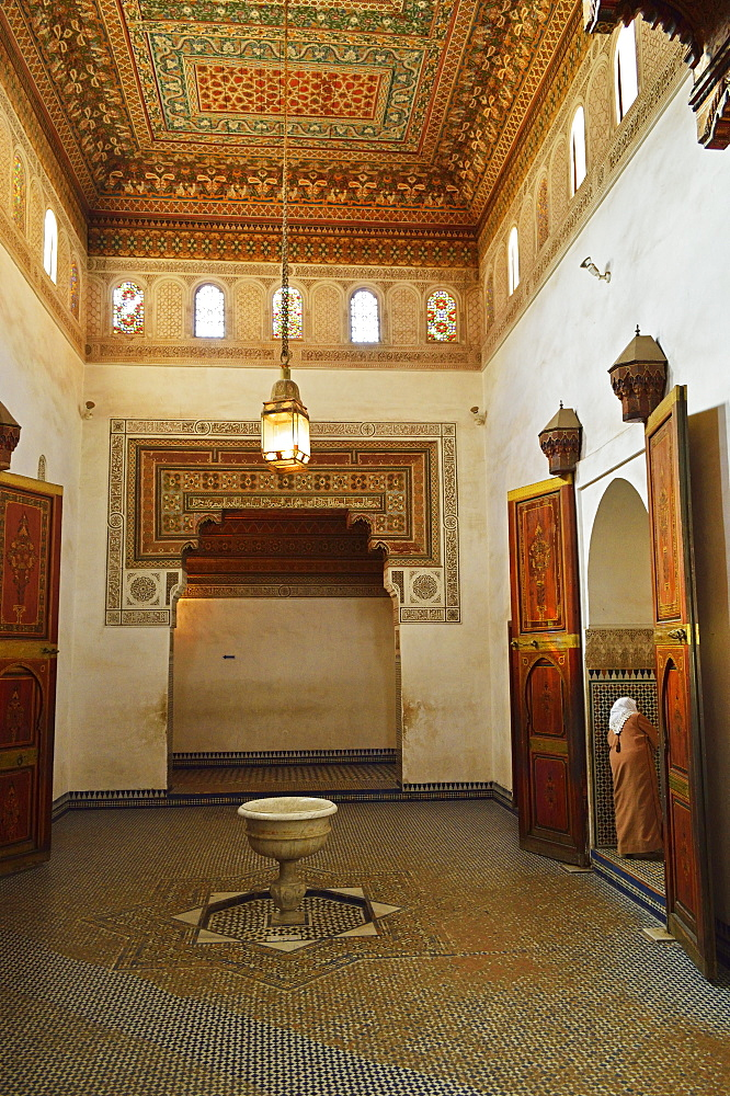 Interior of Palais Bahia, Medina, Marrakesh, Morocco, North Africa, Africa