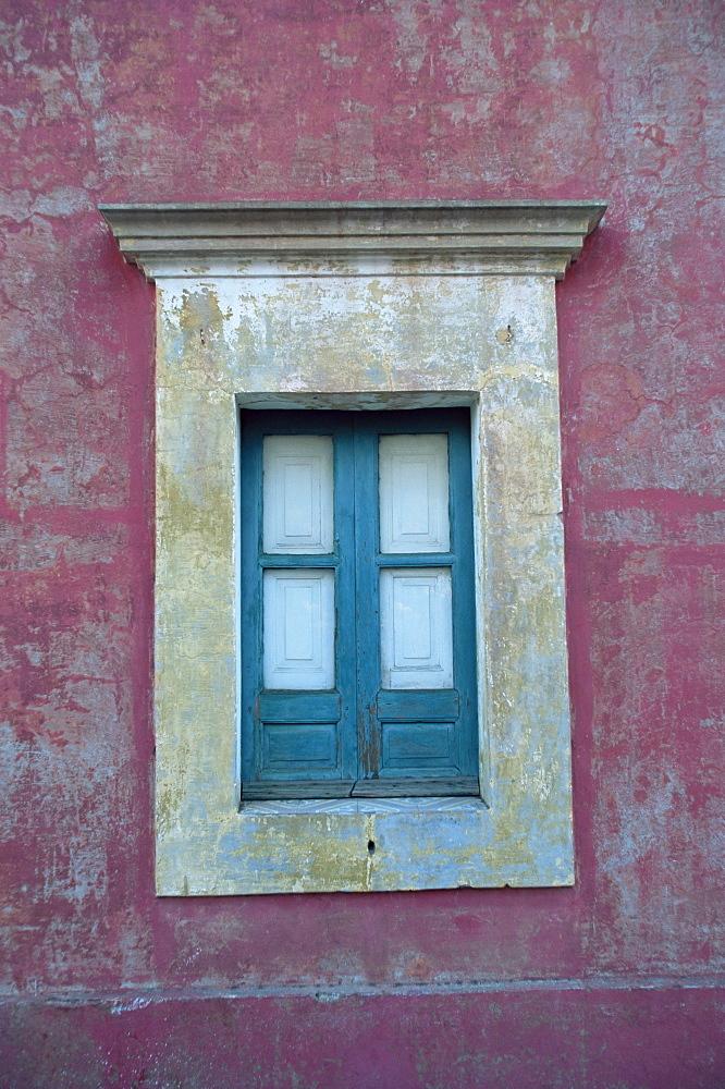 Window detail, Stromboli Island, Eolie Islands (Aeolian Islands) (Lipari Islands), Italy, Europe
