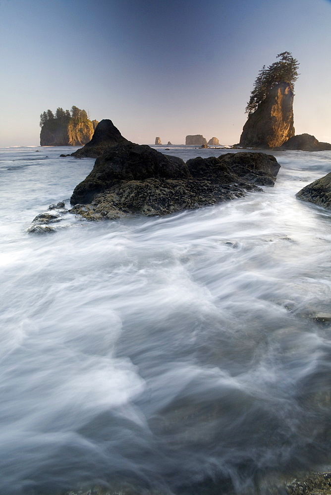 Second Beach, Olympic National Park, UNESCO World Heritage Site, Washington, United States of America, North America - 757-231