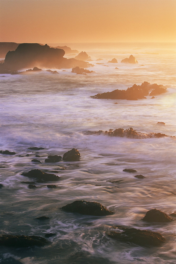 Seascape, Big Sur coast, California, United States of America, North America