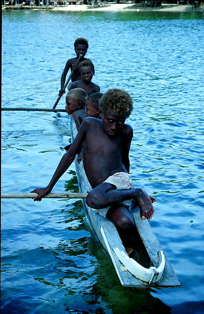 Children in New Ireland, Papua New Guinea, New Ireland, Neu Irland