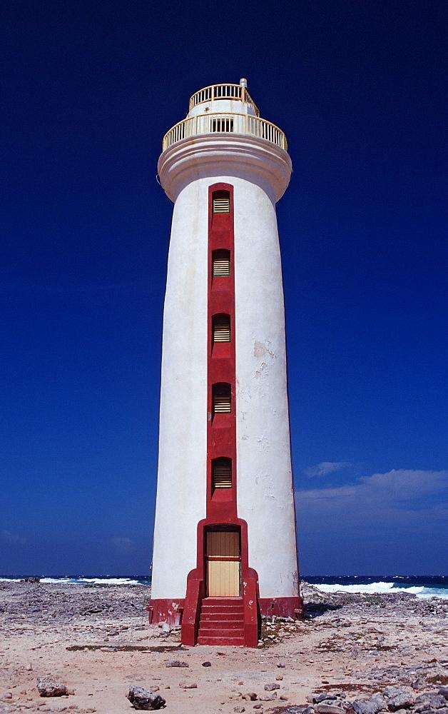 Willemstoren Lighthouse, Netherlands Antilles, Bonaire, Caribbean Sea