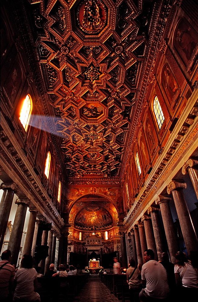Curch Santa Maria in Trastevere, Italy, Rome