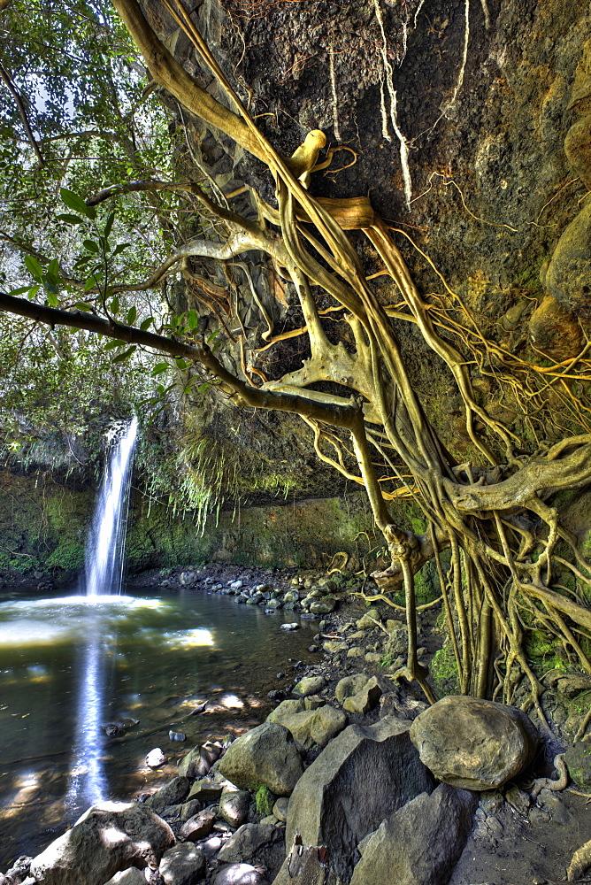 Twin Falls at Road to Hana, Maui, Hawaii, USA