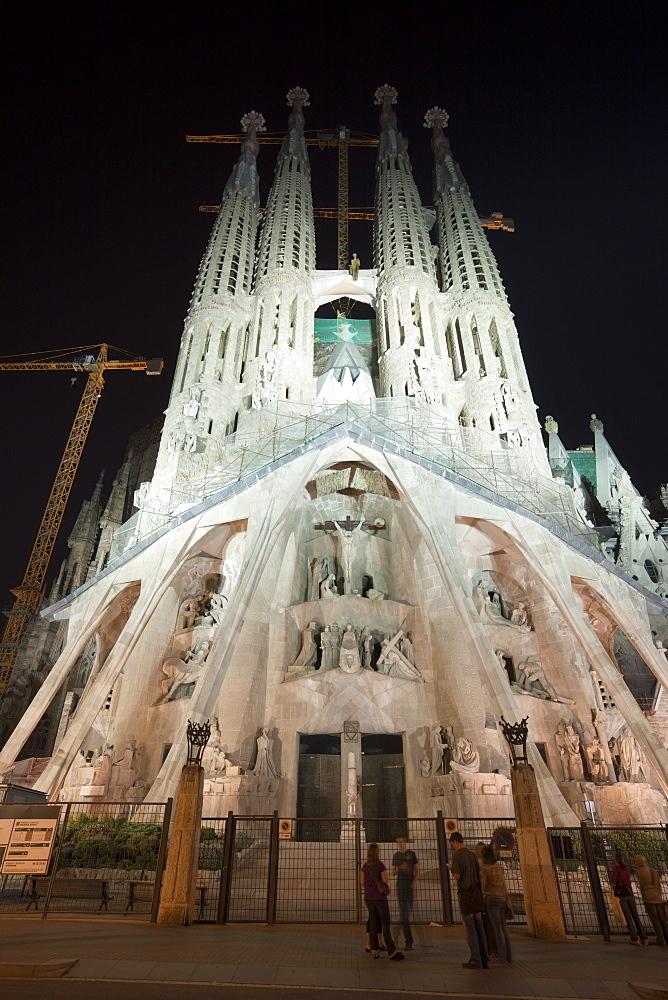 Cathedrale La Sagrada Familia of Architect Antoni Gaudi, Barcelona, Catalonia, Spain