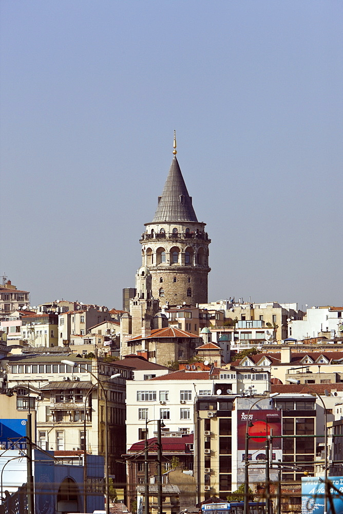 Galata Tower at Beyoglu District, Istanbul, Turkey