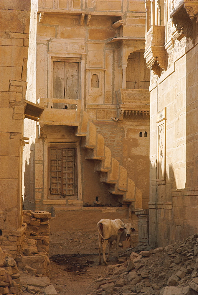 Inside the Fort, Jaisalmer, Rajasthan state, India, Asia - 76-1352
